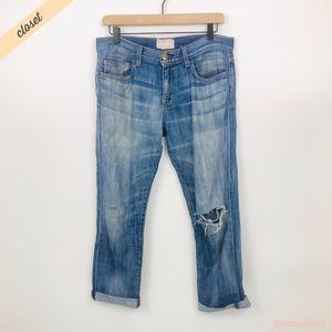 [Current/Elliott] Distressed Boyfriend Jeans